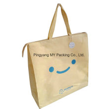 Eco Friendly Packaging Polypropylene Non Woven Tote Zipper Handle Bag