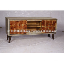 Acacia TV stand with Metal legs