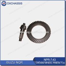 Engrenagem de pinhão de roda de coroa de NQR 700P genuína 7:43 NPR-7: 43