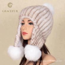 Proteja a orelha cashmere grande chapéu de pele russo