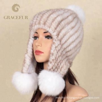 Protéger l'oreille cachemire grand chapeau de fourrure russe