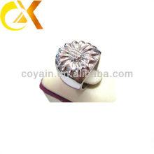 Alto pulido 316L de acero inoxidable de diseño de flores anillos