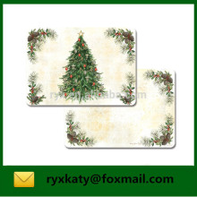 Christmas Vinyl Colour Plastic Table Mat Placemats For Kids