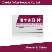 Comprimés de vitamine B1 approuvés par GMP