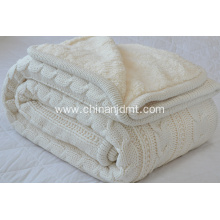 Knitted   double layer blanket