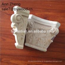 colunas de madeira antigas / mísulas de escultura em madeira decorativas
