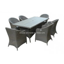 Chaise de jardin rotin Table Set Patio en osier mobilier d'extérieur