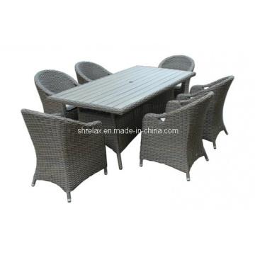 Сервиз столовый стул сада ротанга патио Плетеная уличная мебель