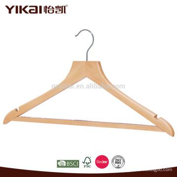 Изогнутая антискользящая деревянная вешалка для рубашек