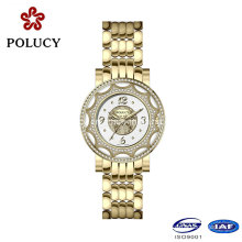 Trendy Fashion Full Gold Watch Wholesale Luxury Stainless Steel Watch