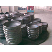 High pressure hemispherical carbon steel end exhaust pipe cap