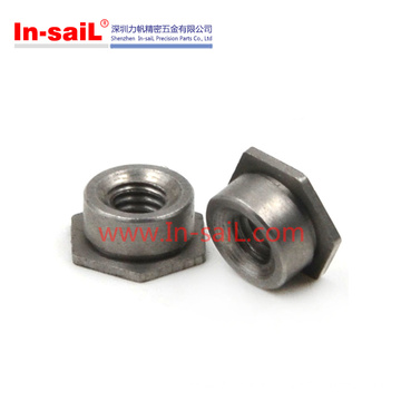 Carbon/Stainless Steel Hex Self Lock/Locking Nut, Self Clinching Flush Nut