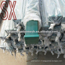 Square Tube Metal Wire Mesh Clôture Post