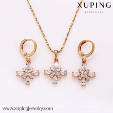 62346-Xuping Fashion Woman Jewlery Set with 18K Gold Plated