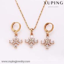 62346-Xuping Moda Mulher Jewlery Set com Banhado a Ouro 18K