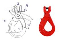 clevis sling hook with latch