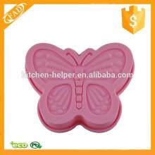 Forno de microondas uso calor e antiderrapante personalizado borboleta silicone bolo bolos molde