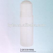 Rouleau en plastique de 90ml sur la bouteille vide deodorant
