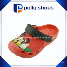 Chaussures de jardin en plastique en gros rouge EVA sabots pour les enfants