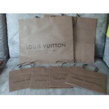 Saco de compras de papel reutilizável com logotipo brilhar e gravar
