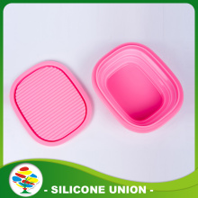 2016 Hot Jual Custom Pink Pet silicone Dog Bowl