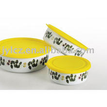 Recipiente de cerámica, forma redonda