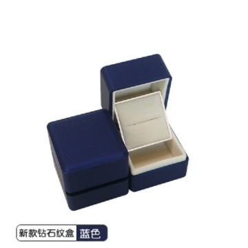 Boîte à bagues de luxe en velours de luxe pour bijoux de mariage