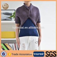 Women knitted mongolian cashmere poncho sweater