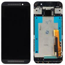 Negro Pantalla LCD Touch Digitizer Asamblea para HTC One M9 + Frame bisel
