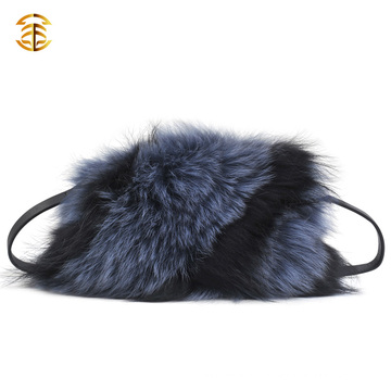2016 Brand Designer Handbags Bicolor Fox Fur Hnadbags