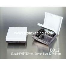white loose powder compact case