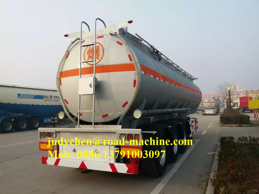 Aluminum 3 Axle Fuel Tanker Semi Trailer