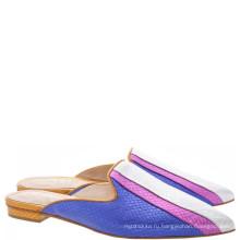 роскошные плоские туфли кожа подошва дамы фиолетовый испанские кожаные тапочки