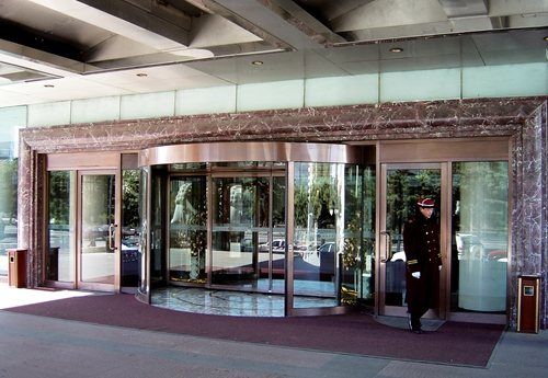 Two-wing Automatic Revolving Doors with Multiple Functions