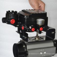 China hizo válvula de control neumática de alta calidad del precio barato con el posicionador de pov elegante