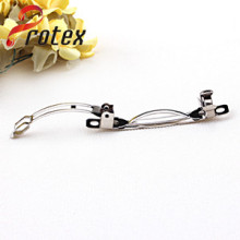 Clear 8cm Metal French Barrette/Plain Hair Clips for DIY