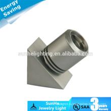 Энергосберегающий регулируемый светодиодный шкаф Серебристый черный светодиодный индикатор ювелирного освещения светодиодный шкаф