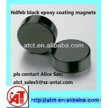 Negro Epoxy sinterizado imán de NdFeB disco