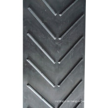 Chevron-Förderband mit offenen V-Profilen