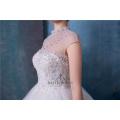 Vestido de novia de cuello alto con cuentas vestidos de novia