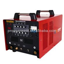 TIG315P Portable TIG AC Dc argônio máquina de solda de alumínio com pulso