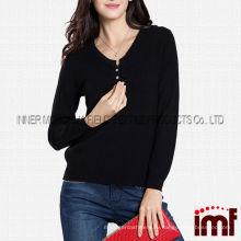 Высокий класс черный дамы оптом кашемир свитера Китай