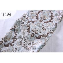 100% Polyester Floral Jacquard Canapé Matériau de Couverture