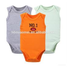 Neueste Mode bequemer Säugling Baby Bio-Baumwolle gestrickt gedruckt Strampelanzug Sommer Stil Neugeborenen Strampler