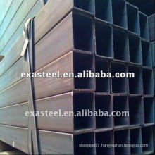 Long black steel square tube/pipe