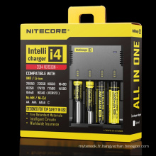 Chargeur de batterie original Nitecore I4 Intellicharger pour batteries Li-ion / Ni-MH