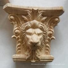 Decorative Animal Wood Corbel Rubber Wood Lion Corbels