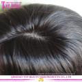 Qingdao fábrica abastecimento 6a cabelo humano brasileiro virgem mão tid seda superior peruca cheia do laço