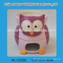 ceramic chocolate fondue set with owl design