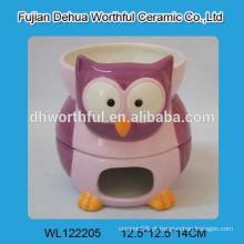 Conjunto de fondue de chocolate de cerâmica com design de coruja